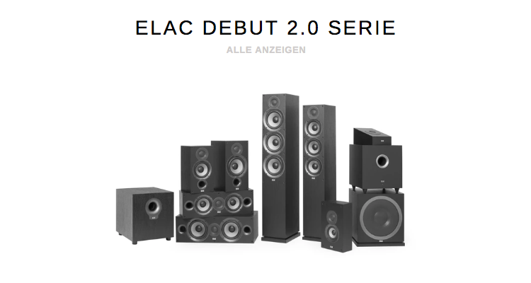 Elac Onlineshop Webshop Lautsprecher Debut 2.0 Kaufen Preis bestellen