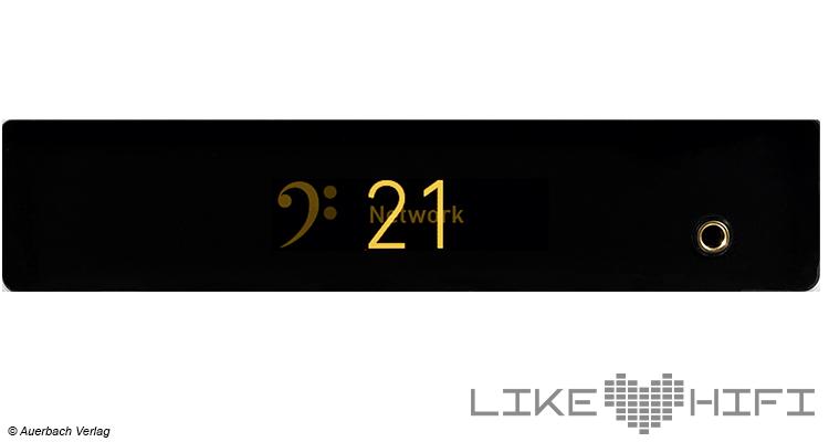 Lindemann Audio Musicbook Source Netzwerkplayer mit MM-Phonovorstufe Test Review Likehifi Display Front