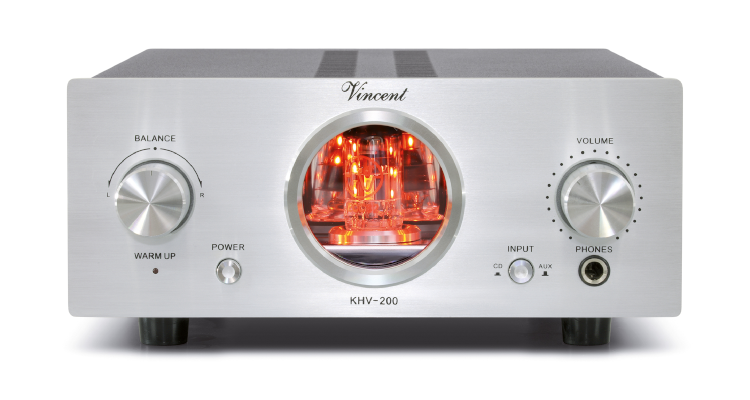 Vincent KHV-200: Neuer hybrider HiFi-Kopfhörerverstärker mit Röhre News Test kaufen Silber Silver