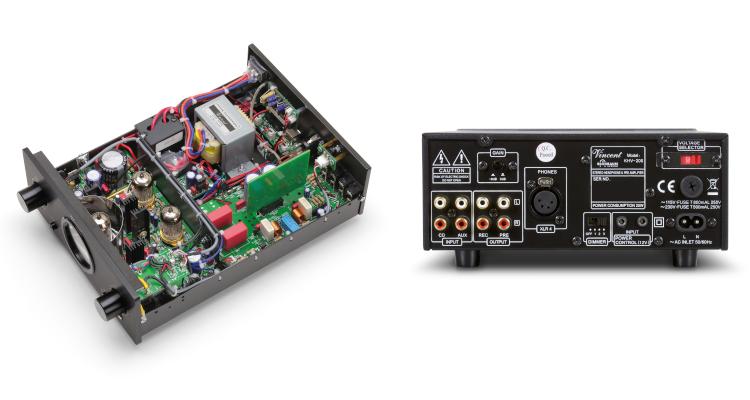 Vincent KHV-200: Neuer hybrider HiFi-Kopfhörerverstärker mit Röhre News Test kaufen Rückseite Anschlüsse Rear Back