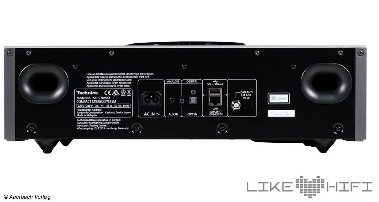 Technics OTTAVA f SC-C70MK2 CD-Fach Kompakte HiFi-Anlage Test Review All-In-One Kompaktanlage Rückseite