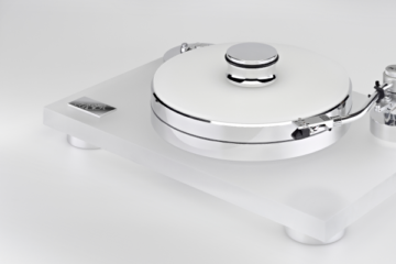 Transrotor Rossini Plattenspieler Test Acryl 25/60 Review Turntable High End