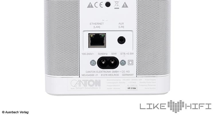 Canton Smart Soundbox 3 Test Lautsprecher Mutiroom Speaker Review  Anschluss Back Rear