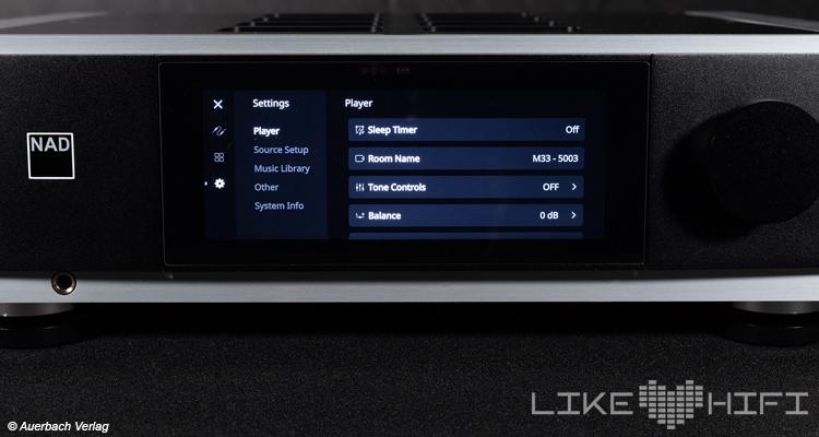 Test Review NAD M33 digitaler Stereo Vollverstärker BluOS Amp Streaming Display Front