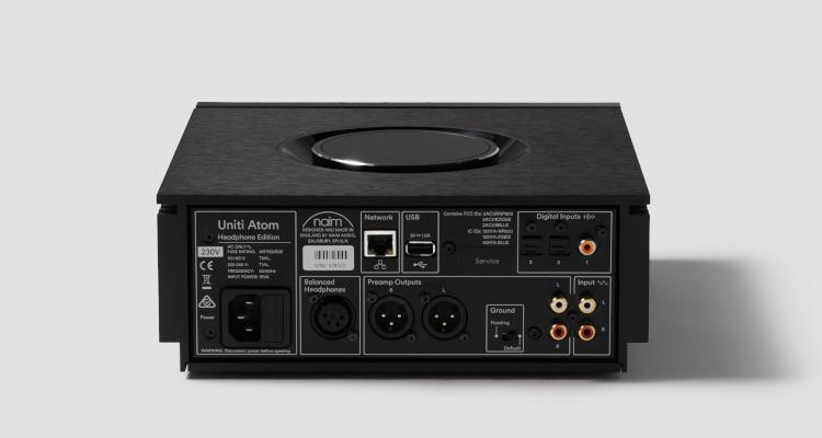 Naim Audio Uniti Atom Headphone Edition Kopfhörer Verstärker Anschlüsse Rear Back