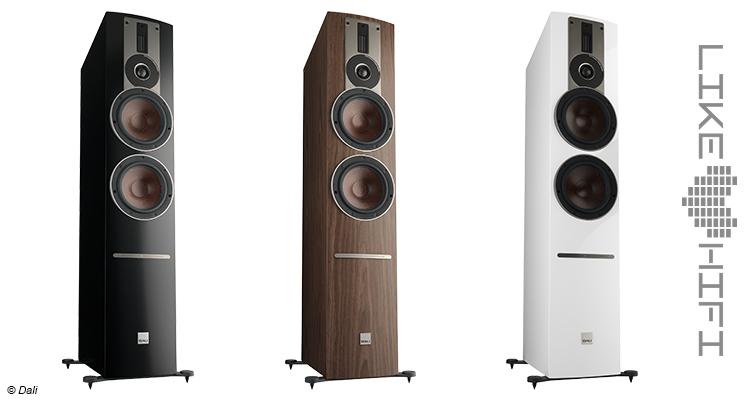 Dali Rubicon 6 C Aktive Standlautsprecher Review Test Speaker Streaming Aktivlautsprecher Front Farben weiß braun schwarz