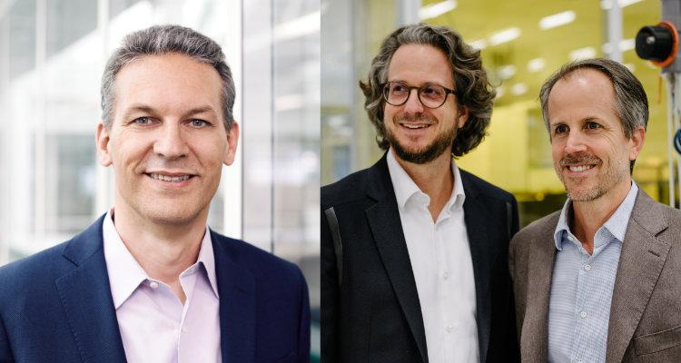 Sonova CEO Arnd Kaldowski und Sennheiser Co-CEO Daniel und Dr. Andreas Sennheiser