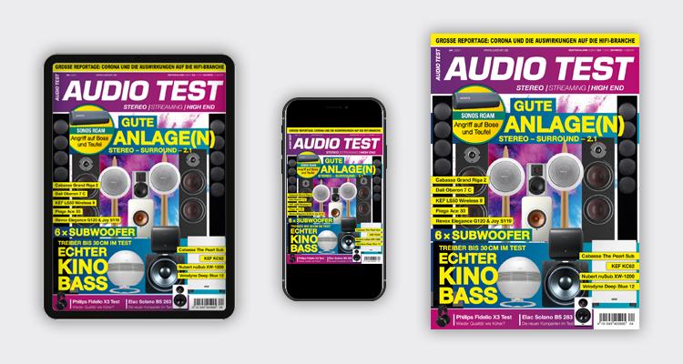 AUDIO TEST Ausgabe 04/21 Magazin HiFi Heft Kaufen Shop bestellen Abo E-Paper digital Subwoofer Lautsprecher Stereo Auerbach Verlag Test Review Mai Titelbild Cover Sonos