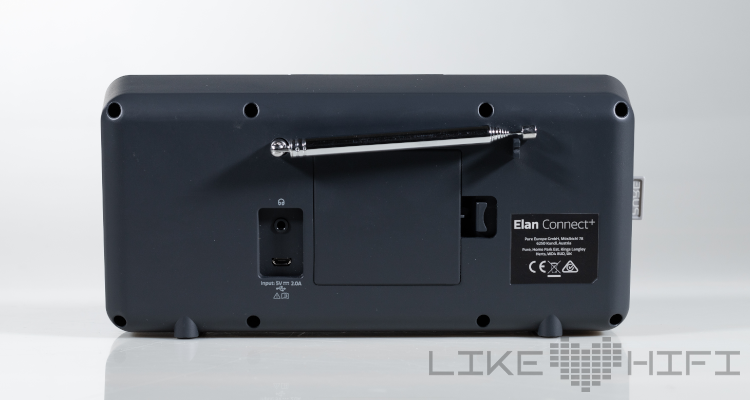 Pure Elan Connect+ Radio Test Review Speaker Digitalradio DAB+ Backside Anschlüsse Rückseite