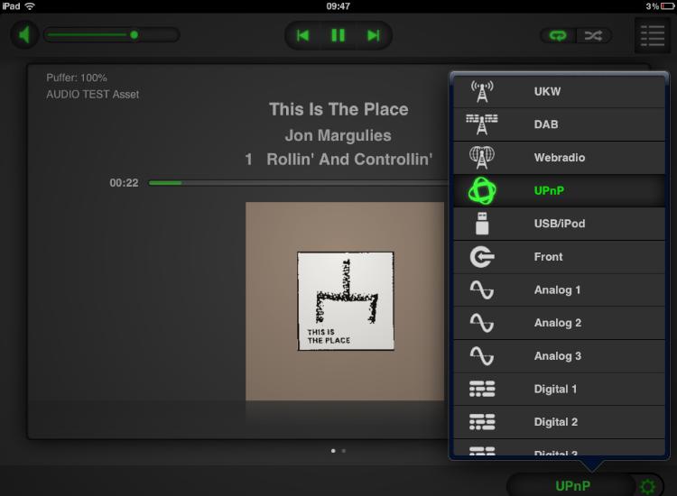 Test Review Naim SuperUniti Verstärker Streamer All-In-One-Player App Display