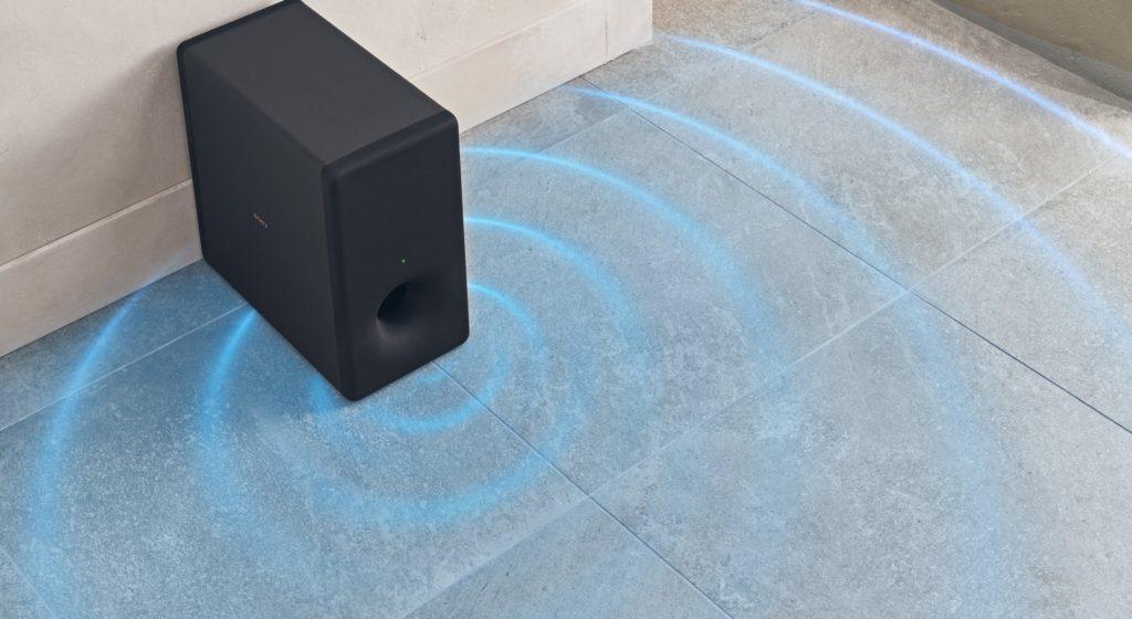 Neue Soundbar HT-A7000 von Sony bietet realistischen Surround Sound Subwoofer