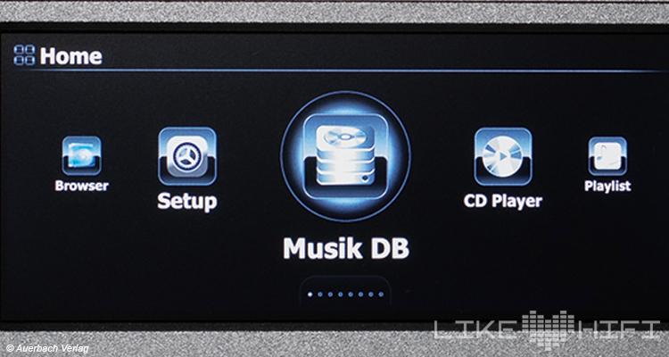 Test CocktailAudio N25 Netzwerkplayer / Streamer Review  Display