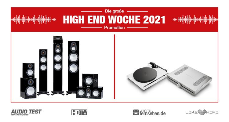 HIGH END WOCHE 2021 Monitor Audio Silver Lautsprecher Speaker Roksan Atessa