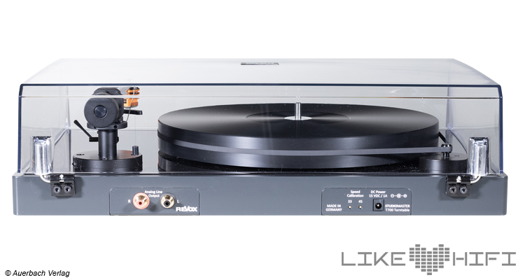 Test Revox Studiomaster T700 Plattenspieler Turntable High End HiFi Review Testbericht Rückseite Back